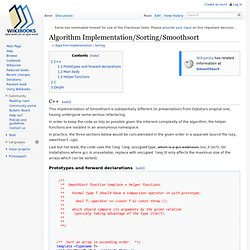 Algorithm Implementation/Sorting/Smoothsort - Wikibooks, collection of open-content textbooks