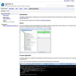 gmx-v - A .Net (C#) implementation of the LISA GMX/V standard.