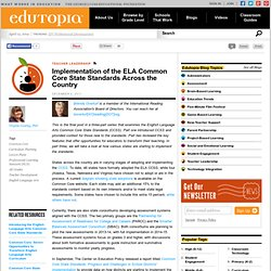 Implementation of the ELA Common Core State Standards Across the Country