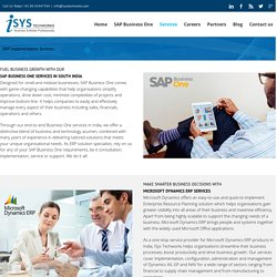 ERP Implementation Services - Isys Techworks Limited