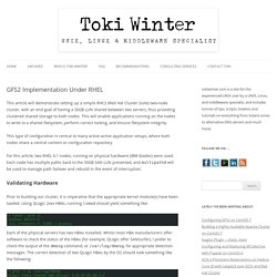 GFS2 Implementation Under RHEL - Toki Winter