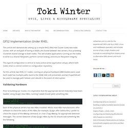 GFS2 Implementation Under RHEL - Toki Winter