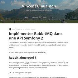Implémenter RabbitMQ dans une API Symfony 2