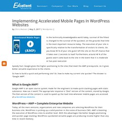 Implementing Accelerated Mobile Pages In Wordpress Websites - Best Website Development Company Australia