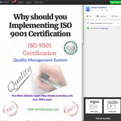 Why should you Implementing ISO 9001 Certification