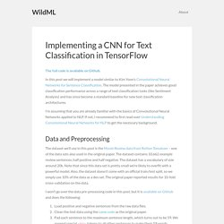 Implementing a CNN for Text Classification in TensorFlow – WildML