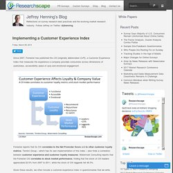 Implementing a Customer Experience Index