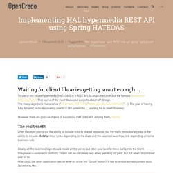 Implementing HAL hypermedia API using Spring HATEOAS