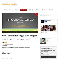 009 - Implementing a 20% Project