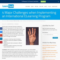 4 Major Challenges when Implementing an International ELearning Program