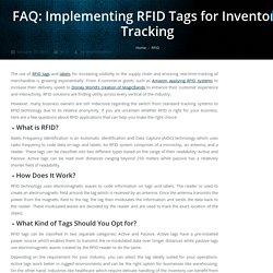 Using RFID Tags and Labels: FAQ
