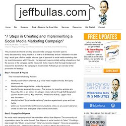"""7 Steps in Creating and Implementing a Social Media Marketing Campaign"""