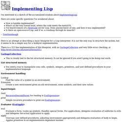 Implementing Lisp