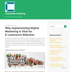 Why Implementing Digital Marketing is Vital for E-commerce Websites