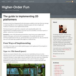 The guide to implementing 2D platformers | Higher-Order Fun