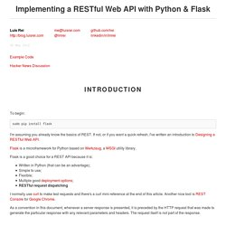 Implementing a RESTful Web API with Python & Flask