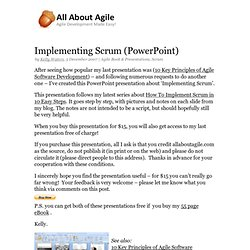 Implementing Scrum – PowerPoint Presentation