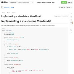 Implementing a standalone ViewModel - GitHub