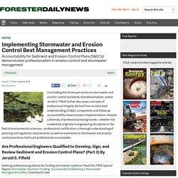 Implementing Stormwater and Erosion Control Best Management Practices - Forester Network