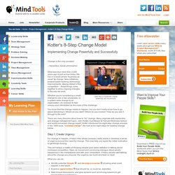 Kotter's 8-Step Change Model - Change Management Training from MindTools