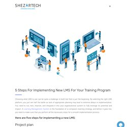 5 Steps For Implementing New LMS For Your Training Program