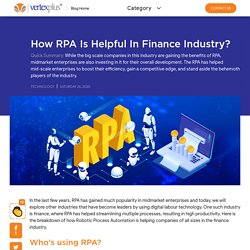What are the benefits of implementing rpa in Finance