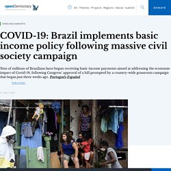 COVID-19: Brazil implements basic income policy following massive civil society campaign