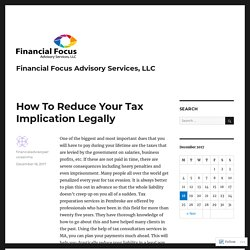 How To Reduce Your Tax Implication Legally