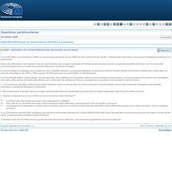 PARLEMENT EUROPEEN - Réponse à question E-3240/00 Implication de la firme Fléchard dans des fraudes sur du beurre