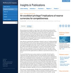 Company - An exorbitant privilege? Implications of reserve curre