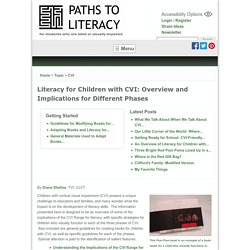 Literacy for Children with CVI: Overview and Implications for Different Phases