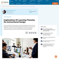 Implications Of Learning Theories On Instructional Design