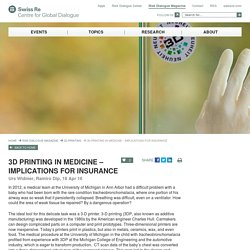 3D Printing in Medicine – Implications for Insurance