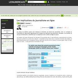 Les implications du journalisme en ligne