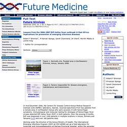 Future Medicine - Future Virology - 3(5):411 - Full Text