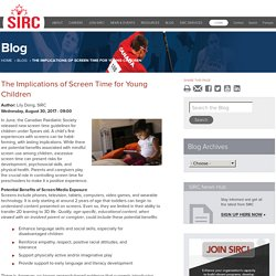 The Implications of Screen Time for Young Children