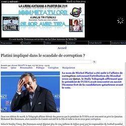 Platini impliqué dans le scandale de corruption