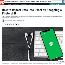 How to Import Data Into Excel by Snapping a Photo of It