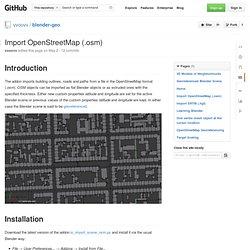 Import OpenStreetMap (.osm) · vvoovv/blender-geo Wiki
