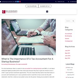 Importance Of A Tax Accountant For A Startup Business