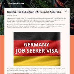 Importance and Advantages of Germany Job Seeker Visa