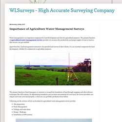 WLSurveys - High Accurate Surveying Company : Importance of Agriculture Water Management Surveys