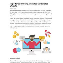 Importance Of Using Animated Content For Website