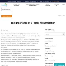 The Importance of 2 Factor Authentication