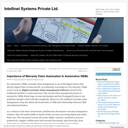 Importance of Warranty Claim Automation In Automotive OEMs