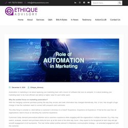 Role of automation in marketing