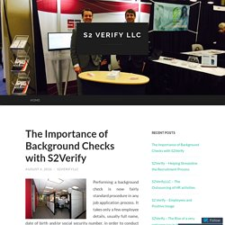The Importance of Background Checks with S2Verify