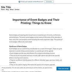 Event Badge Printing - Plastic Card Service