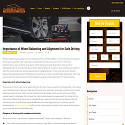Importance of Wheel Balancing and Alignment for Safe Driving