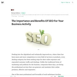 The Importance and Benefits Of SEO For Your Business Activity